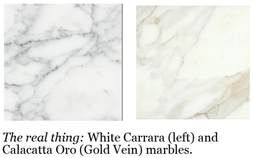 On The Prowl Alternatives To White Marble Countertops