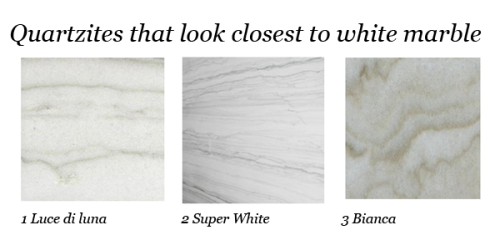 quartzite that look like white marble