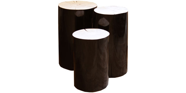Black And White Stump Stool