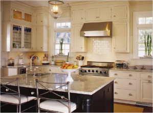 small kitchen antique white cabinets