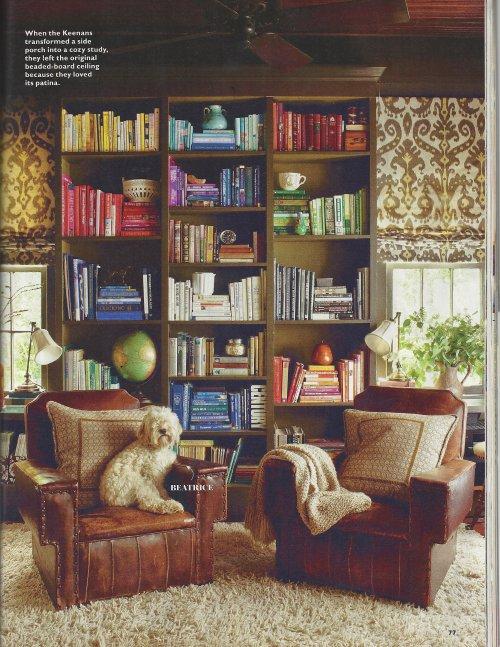 Southern Living rainbow bookshelf