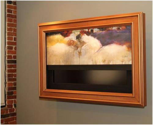 Hide Your Flat Screen Tv Or Even Turn It Into Artwork