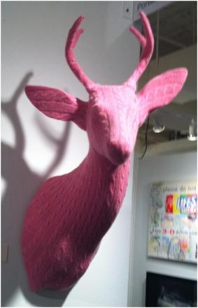 pink-deer-head